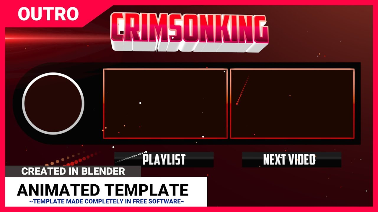 Free blender 2d outro template animated 60fps free download youtube for Outro template download