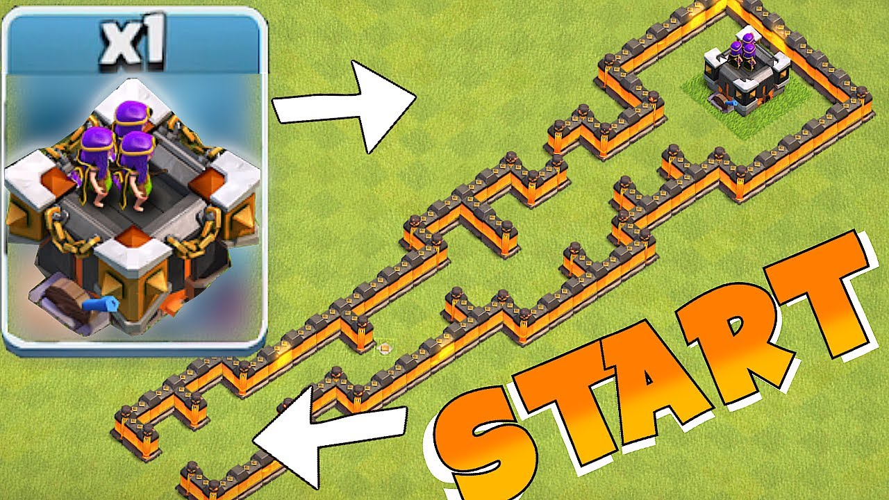 Lvl  Archer Tower Maze Clash Of Clans Th Troll Base