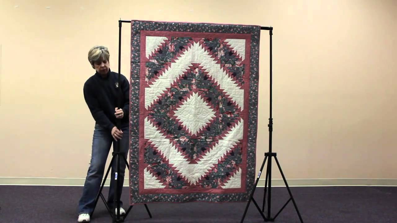 How To Set Up A Quilt Display Stand Original Model Youtube
