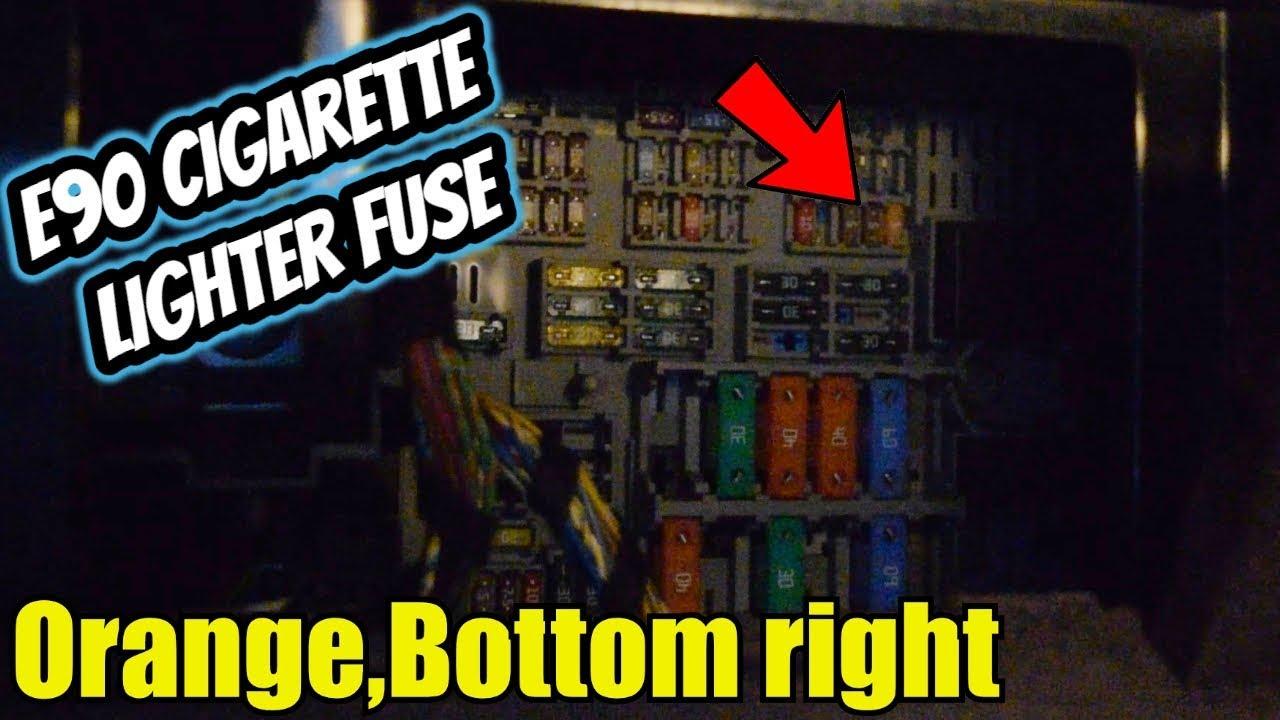 bmw e90 cigarette lighter fuse replace [ 1280 x 720 Pixel ]