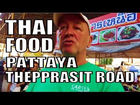 Thai Food at its Best. Thepprasit Night Market. Pattaya Thailand. Every Fri, Sat, & Sun Night.