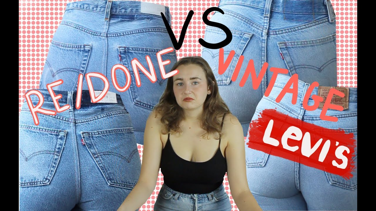 57101adb9d4 Re/Done Jeans VS True Vintage Levi's: Worth the price??   A Review and  Comparison