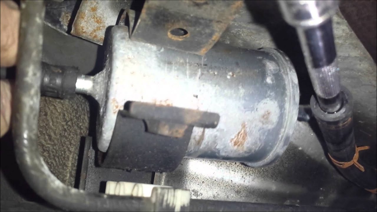 2001 isuzu rodeo - fuel filter replacement