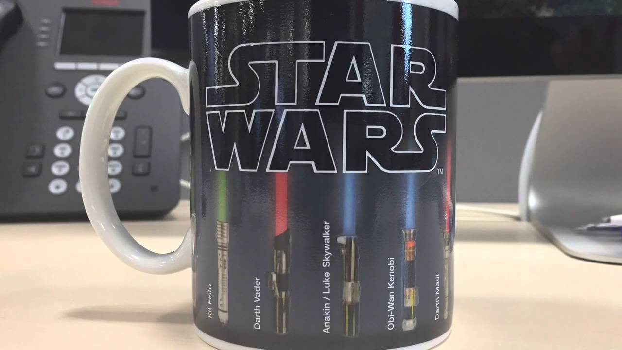Heat Activated Paint Star Wars Light Saber Heat Change Mug Youtube