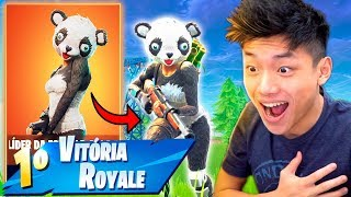 I BOUGHT THE NEW LEGENDARY SKIN OF THE PANDA AND DESTROYED THE MATCH!! FORTNITE: BATTLE ROYALE
