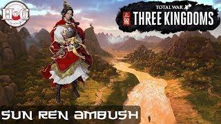 Total War: THREE KINGDOMS - Sun Ren Ambush Gameplay