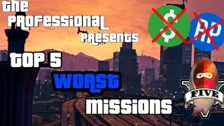 Top 5 worst missions in GTA Online