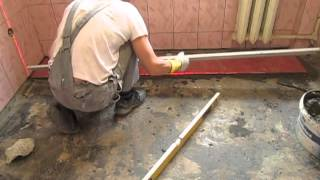 Укладка плитки на пол своими руками(Это видео создано с помощью видеоредактора YouTube (http://www.youtube.com/editor), 2015-01-29T15:18:14.000Z)