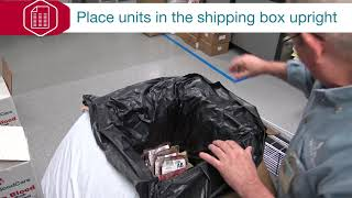 How to Pack Red Blood Cells in a Shipping Box
