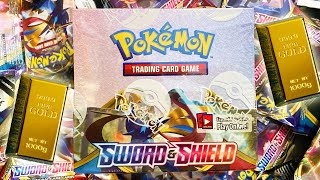 HUGE Pokemon Sword And Shield Opening! *NEW* Booster Box Opened (GOLD POKEMON CARD HUNTING AGAIN)
