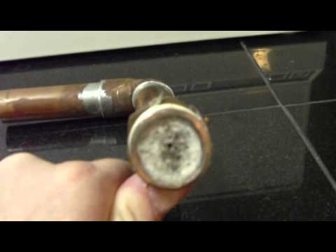 Clogged Hot Water Pipe Example From Water Heater Outlet to House