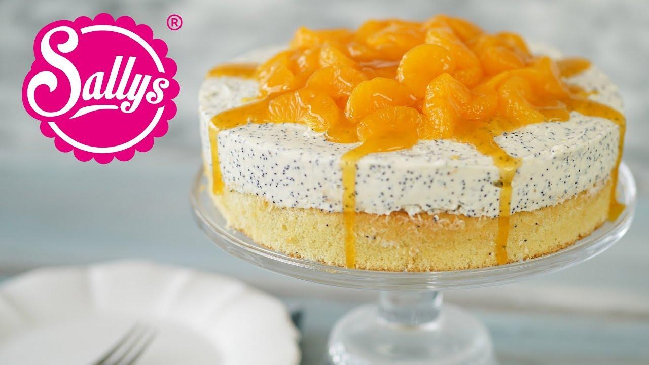 Quarksahne Torte Mit Mohn Und Mandarinen Youtube