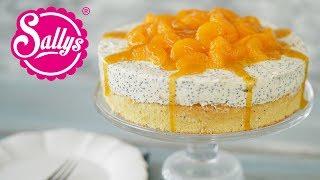 Quarksahne Torte / Mit Mohn und Mandarinen