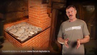 Кирпичная печь в бане(