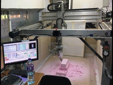 DIY - homebuild 5axis CNC : milling foam panel for fiberglass mold