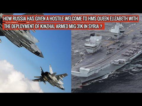 #Putin sends #Kinzhal hypersonic missile armed #Mig31K to deter Britain's #HMSQueenElizabeth !