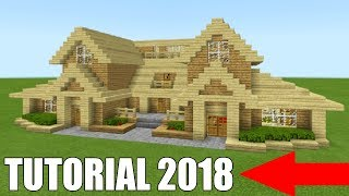 Minecraft Tutorial: How To Make A Ultimate Wooden Survival House 2018