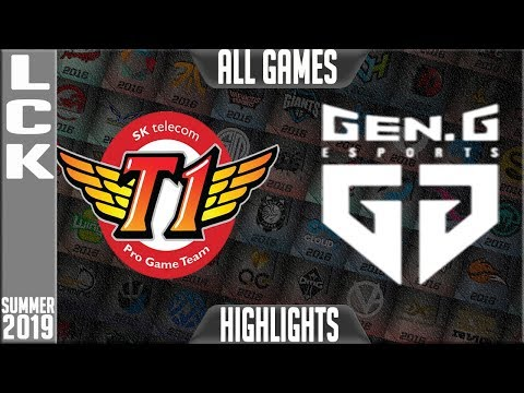 SKT vs GEN Highlights ALL GAMES | LCK Summer 2019 Week 7 Day 1 | SK Telecom T1 vs Gen.G
