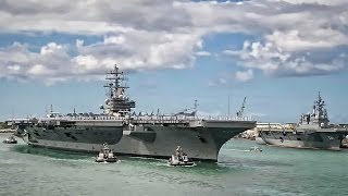 Aircraft Carrier Ronald Reagan Arrives At Pearl Harbor
