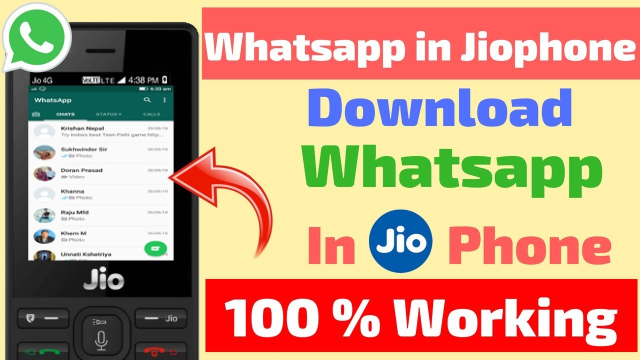 Use Whatsapp on Jio Phone | ऐसे install करे Jio Phone में Whatsapp |100%  working method |