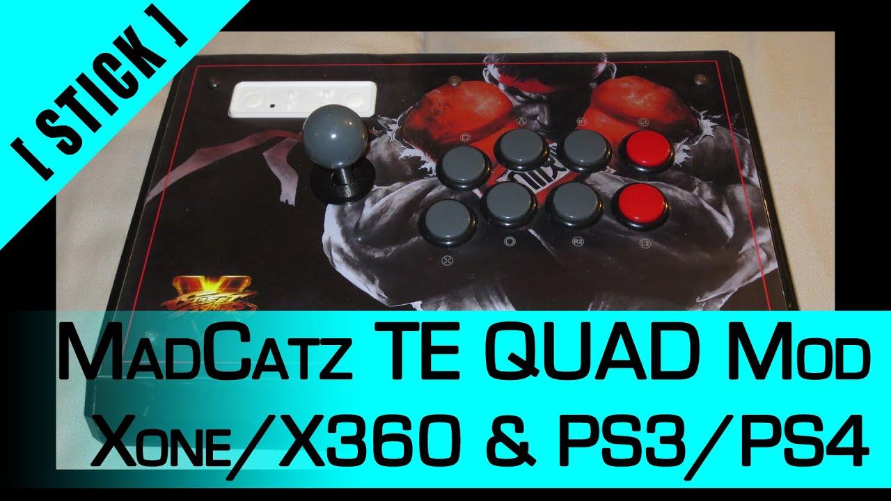 Arcade Stick Mod] Part 4: MadCatz TE QUAD mod - Xone/X360 & PS3/PS4 ...