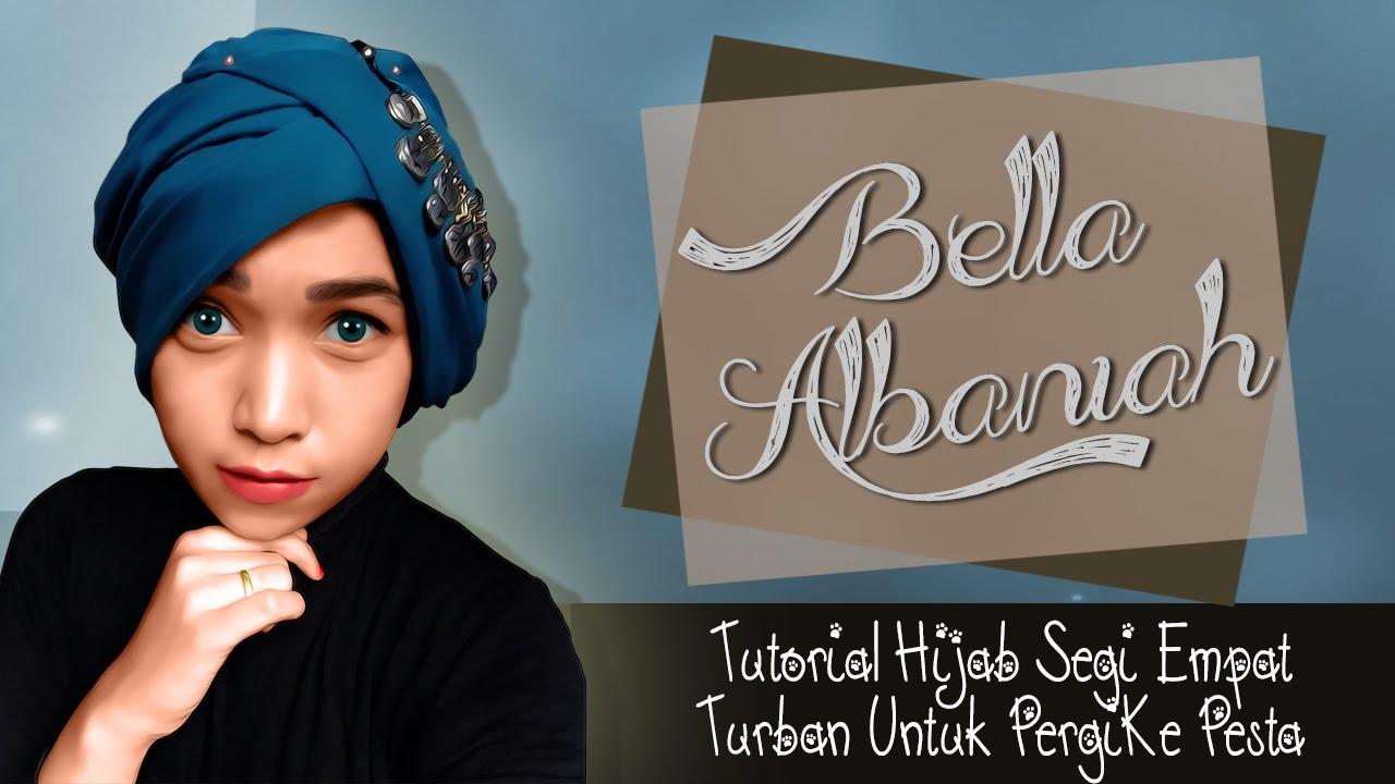 Cara Memakai Hijab Segi Empat Turban Pesta Terbaru 2016 YouTube
