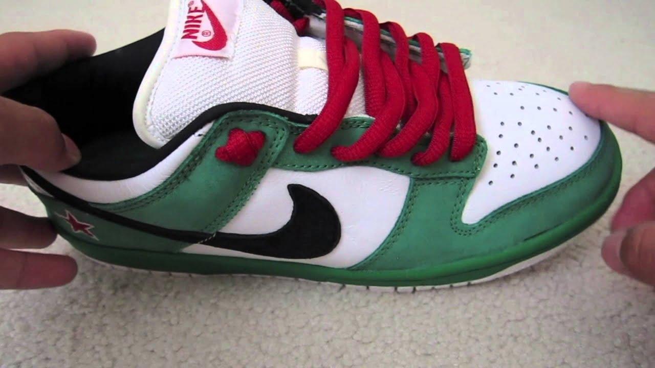 low priced 66f75 53a8a Nike Sb Heineken Dunk Low Review!