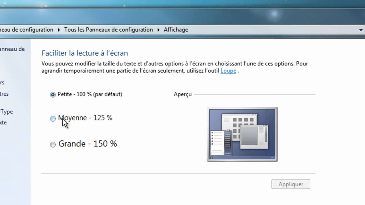 Agrandir La Taille Du Texte Windows 7 Youtube