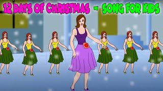 Twelve Days of Christmas with Lyrics - Christmas Carol - Children Song