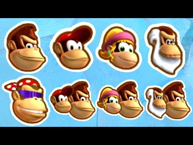 Donkey Kong Country Tropical Freeze - All Characters