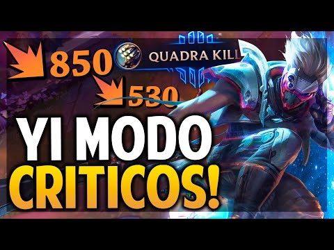 ¡MASTER YI MODO FULL CRITICO! PSY OPS | League of Legends