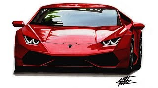 This time I'm teaching you how to draw a supercar, a Lamborghini Hu...