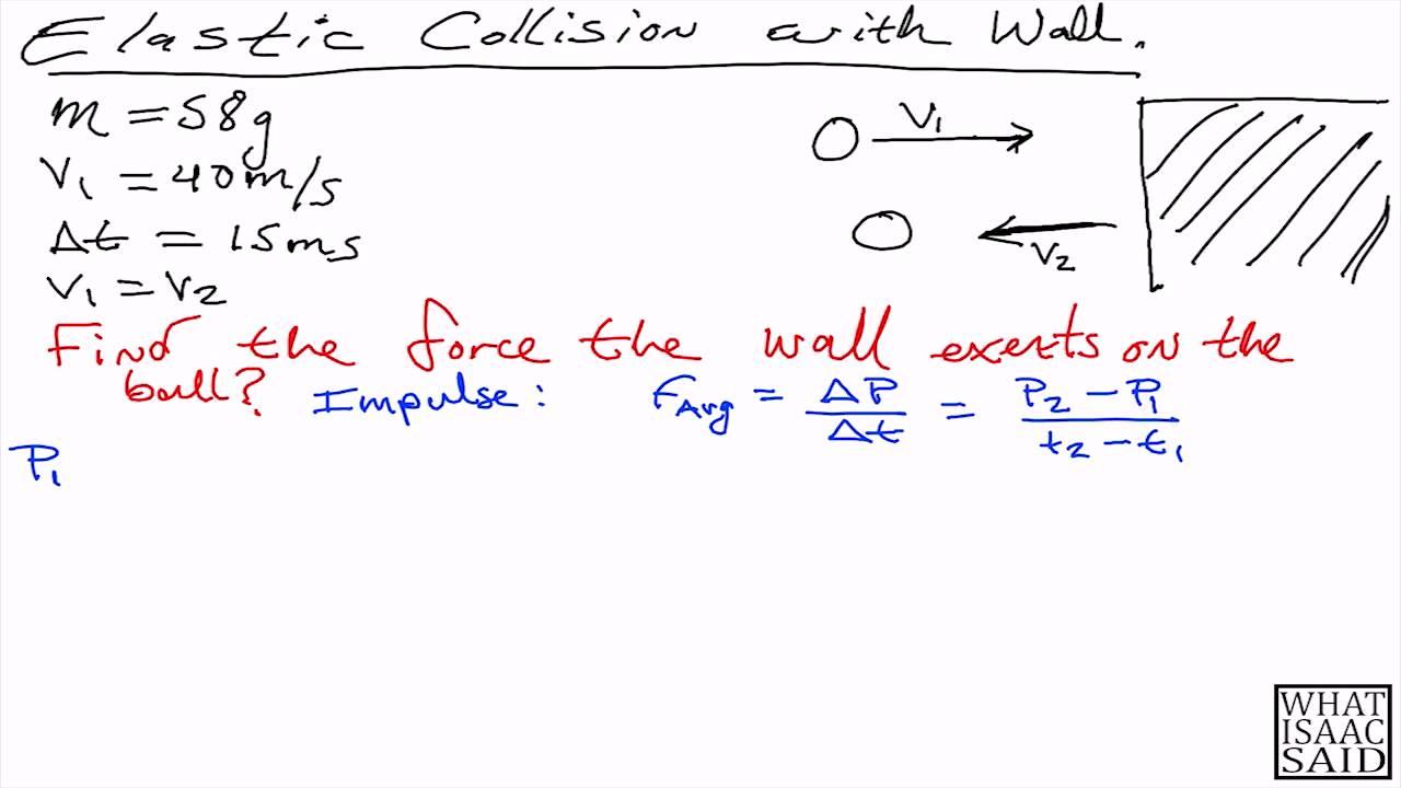 Physics I Tutorial Elastic Collision Youtube