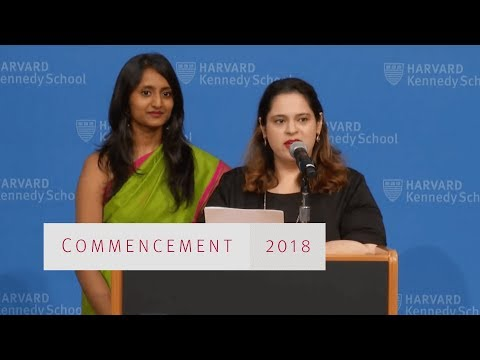 Harvard Kennedy School Class Day Awards 2018