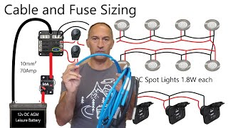 Electric Cable & Fuse Sizing - Camper Van Conversion Series