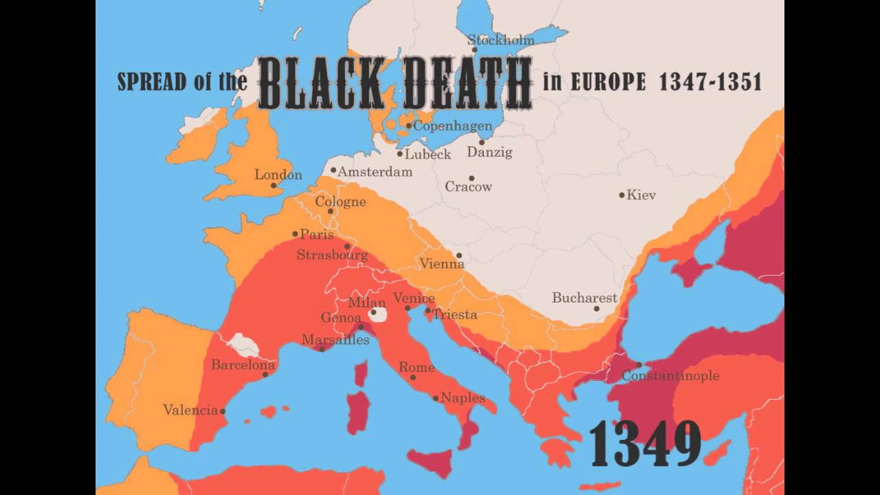 Black plague time lapse in europe from 1347 1351 youtube black plague time lapse in europe from 1347 1351 gumiabroncs Images