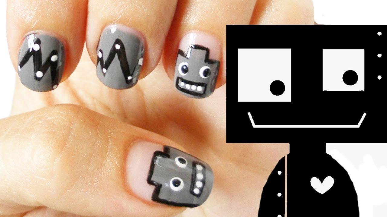 Robot Nail Art Tutorial - YouTube