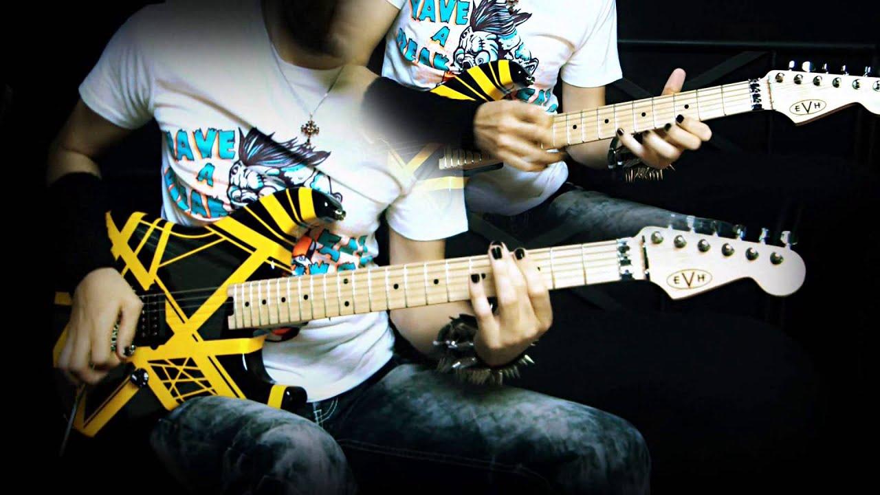 Van Halen Unchained Guitar Cover Evh Stripe Yellow Black Neogeofanatic Van Halen Guitar Yellow Black