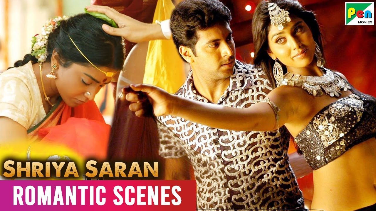 श्रिया सरन - Back to Back Romantic Scenes   Gunda Raaj Mitadenge, Dayaalu   Hindi Dubbed Movie
