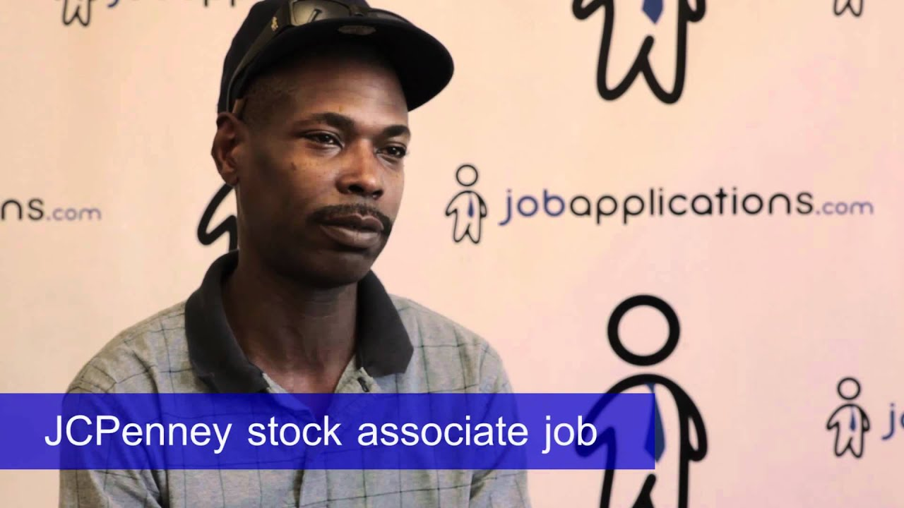 jcpenney interview stock associate youtube