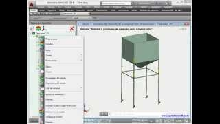 Paleta de estudios de AutoFEM (el sistema de análisis de elementos finitos)