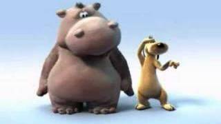 Hippo and Dod-Lion King song in fast and slow motion