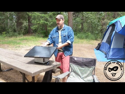Living in the Woods with Solar Power – Goal Zero Solar Panel Battery Generator Yeti 400 Boulder 30