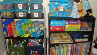 How I Organize My Preschoolers Small Room (Toys, Clothes, Books, Etc.)