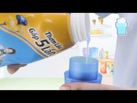 Góc giặt máy Comfort - Chỉ một nắp đầy cho hương thơm gấp 5 lần