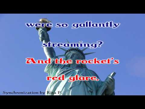 Karaoke - The Star-Spangled Banner - National Anthem of the USA