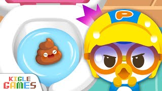 Toilet Training Video for Toddlers | Pororo Habit Game | Education for Baby Learning | KIGLE GAMES