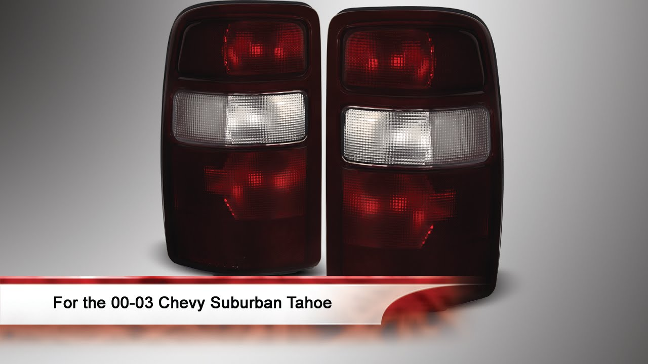 00 03 Chevy Suburban Tahoe Tail Lights With Black Rim