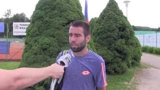Václav Šafránek po výhře v prvním kole na turnaji Futures v Ústí n. O.