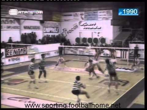 Voleibol :: Leixoes - 3 x Sporting - 0 de 1989/1990 - 2Fase
